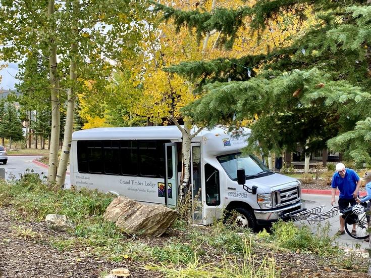 Free shuttle in Breckenridge CO